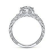 Kirie Platinum Round Straight Engagement Ring