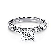 Kirsten 14k White Gold Round Straight Engagement Ring angle 1
