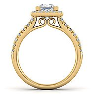 Kylie 14k Yellow Gold Princess Cut Halo Engagement Ring angle 2