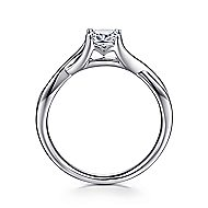 Kylo 14k White Gold Cushion Cut Solitaire Engagement Ring