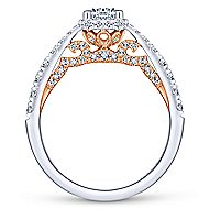 Lacey 14k White And Rose Gold Round Straight Engagement Ring angle 2