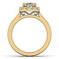 Lana 14k Yellow Gold Cushion Cut Halo Engagement Ring angle 2