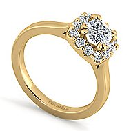 Lana 14k Yellow Gold Cushion Cut Halo Engagement Ring angle 3