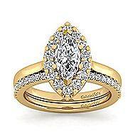 Lana 14k Yellow Gold Marquise  Halo Engagement Ring angle 4