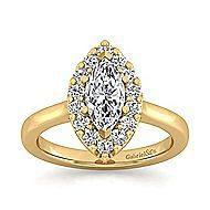 Lana 14k Yellow Gold Marquise  Halo Engagement Ring angle 5