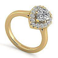 Lana 14k Yellow Gold Pear Shape Halo Engagement Ring angle 3
