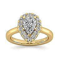 Lana 14k Yellow Gold Pear Shape Halo Engagement Ring angle 5