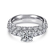 Lavinia 14k White Gold Round Straight Engagement Ring angle 1