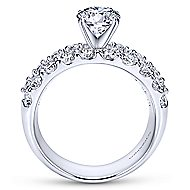 Lavinia 14k White Gold Round Straight Engagement Ring angle 2