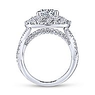 Leslie 18k White Gold Round Double Halo Engagement Ring angle 2