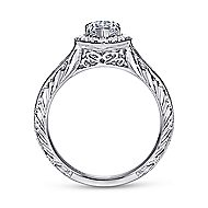 Leticia 14k White Gold Marquise  Halo Engagement Ring angle 2