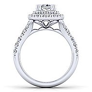 Lexie 14k White Gold Cushion Cut Double Halo Engagement Ring angle 2