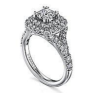 Lexie 14k White Gold Cushion Cut Double Halo Engagement Ring angle 3
