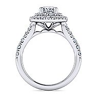Lexie 14k White Gold Oval Double Halo Engagement Ring angle 2