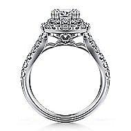 Lexie Platinum Cushion Cut Double Halo Engagement Ring angle 2