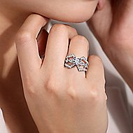 Lina 14k White Gold Round Split Shank Engagement Ring