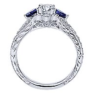 Linden 14k White Gold Round Halo Engagement Ring angle 2