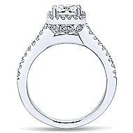 Lindsey 14k White Gold Princess Cut Halo Engagement Ring angle 2