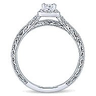 Lucas 14k White Gold Princess Cut Halo Engagement Ring angle 2