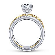 Lucinda 14k Yellow And White Gold Round Twisted Engagement Ring angle 2