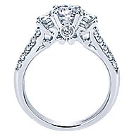 Lure 14k White Gold Round 3 Stones Engagement Ring angle 2