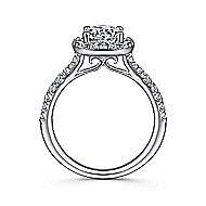 Lyla Platinum Round Halo Engagement Ring