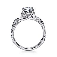 Maisie 18k White Gold Round Twisted Engagement Ring angle 2