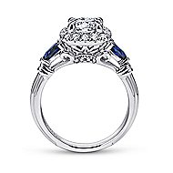 Mara 18k White Gold Round Halo Engagement Ring angle 2