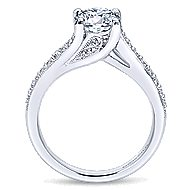 Marcy 14k White Gold Round Bypass Engagement Ring angle 2