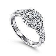 Maren 14k White Gold Round Double Halo Engagement Ring angle 3