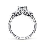 Margarita Platinum Round Halo Engagement Ring angle 2