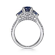 Marietta 14k White Gold Oval Halo Engagement Ring