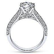 Marion 14k White Gold Round Split Shank Engagement Ring angle 2