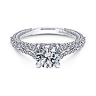 Marisol 14k White Gold Round Straight Engagement Ring angle 1