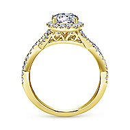 Marissa 14k Yellow Gold Round Halo Engagement Ring angle 2