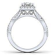 Marissa Platinum Emerald Cut Halo Engagement Ring angle 2