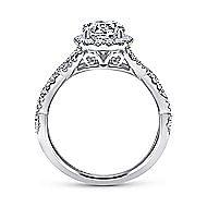 Marissa Platinum Round Halo Engagement Ring angle 2