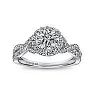 Marissa Platinum Round Halo Engagement Ring angle 5