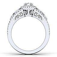 Marlena Platinum Marquise  Halo Engagement Ring angle 2
