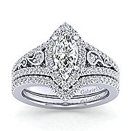 Marlena Platinum Marquise  Halo Engagement Ring angle 4