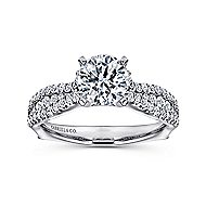 Marley 14k White Gold Round Straight Engagement Ring angle 5