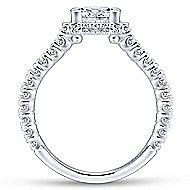Matilda 14k White Gold Princess Cut Straight Engagement Ring angle 2