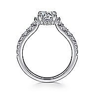 Matilda 14k White Gold Round Straight Engagement Ring angle 2