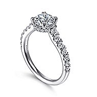 Matilda 14k White Gold Round Straight Engagement Ring