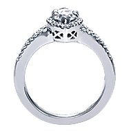 Mavis 14k White Gold Marquise  Halo Engagement Ring angle 2
