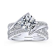 Melika 14k White Gold Round Bypass Engagement Ring angle 4