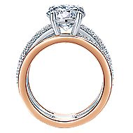 Merliah 18k White And Rose Gold Round Split Shank Engagement Ring angle 2