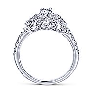 Mirabella 14k White Gold Oval Halo Engagement Ring angle 2