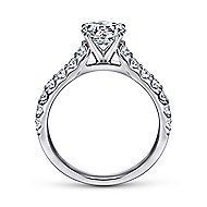 Misty 14k White Gold Round Straight Engagement Ring angle 2