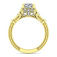 Montgomery 14k Yellow Gold Round Halo Engagement Ring angle 2